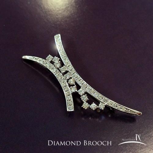 ダイヤモンドのブローチ