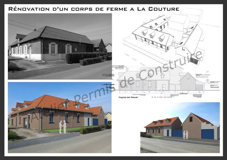 13.22. Atelier permis de construire - Transformation d'une ferme en 4 logements