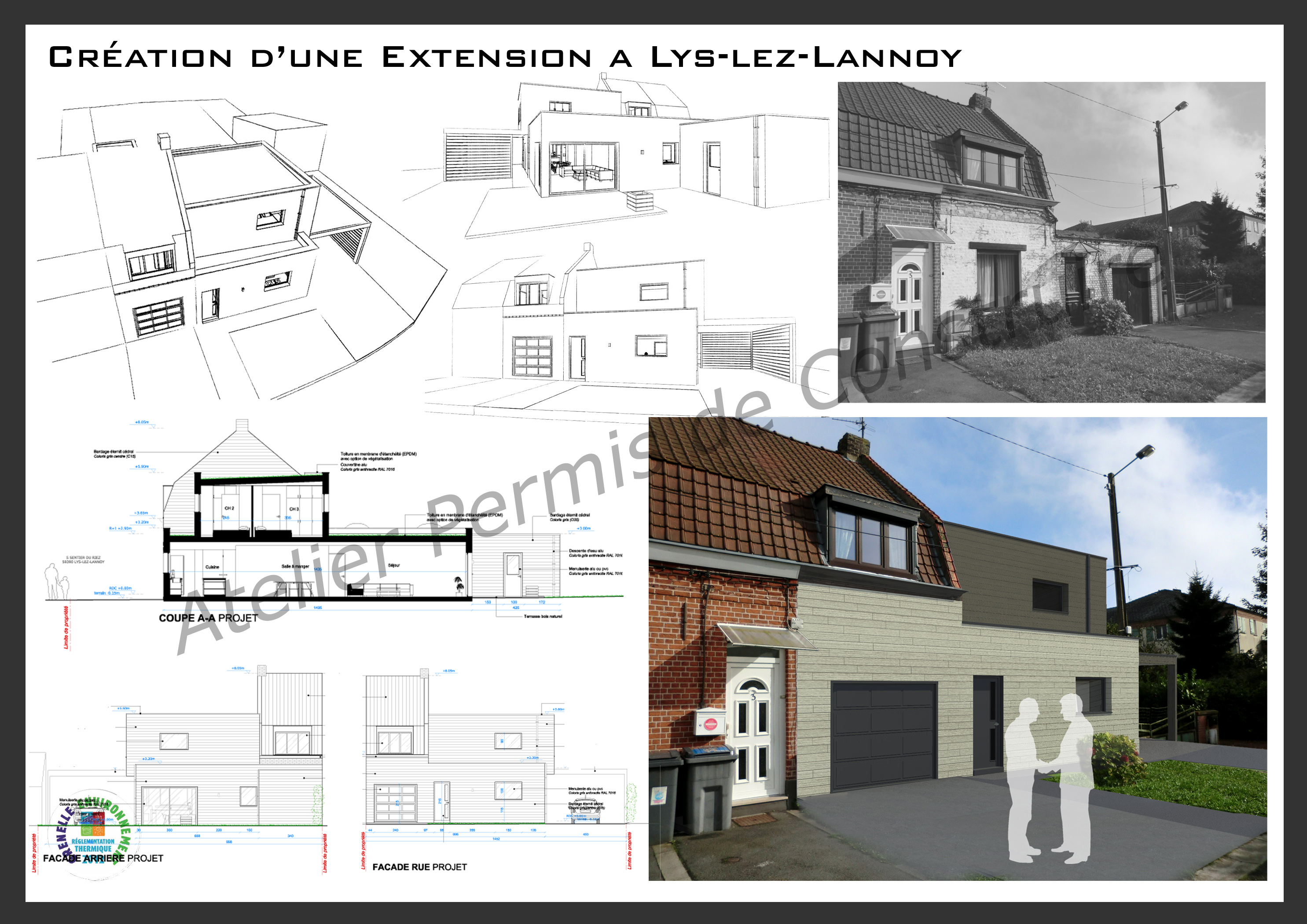 Simple Plans Permis De Construire Architecte Plan Maison