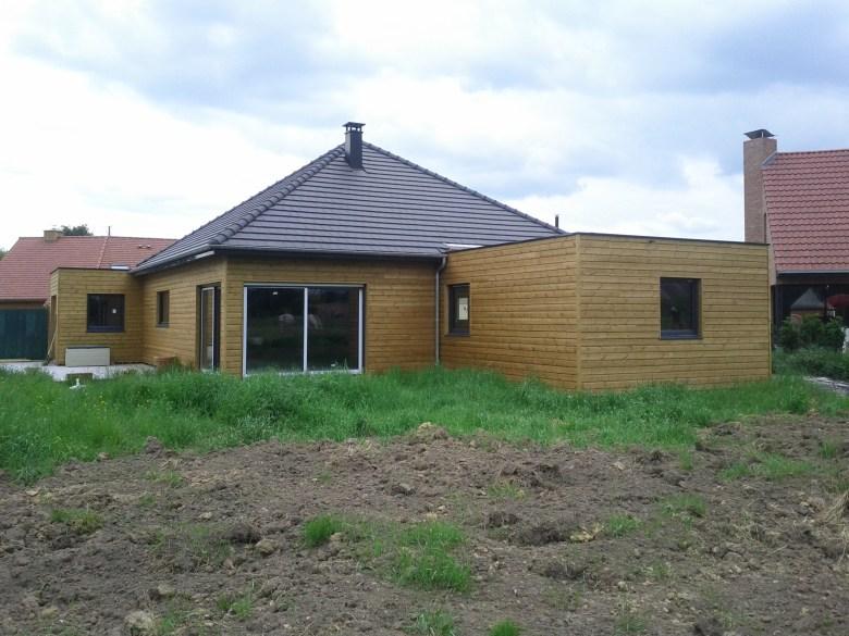 Construction Atelier Permis de construire Ossature Bois Sainghin en weppes 2