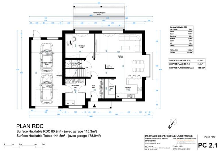 Exemple de permis de construire - Demande de permis de construire garage ...