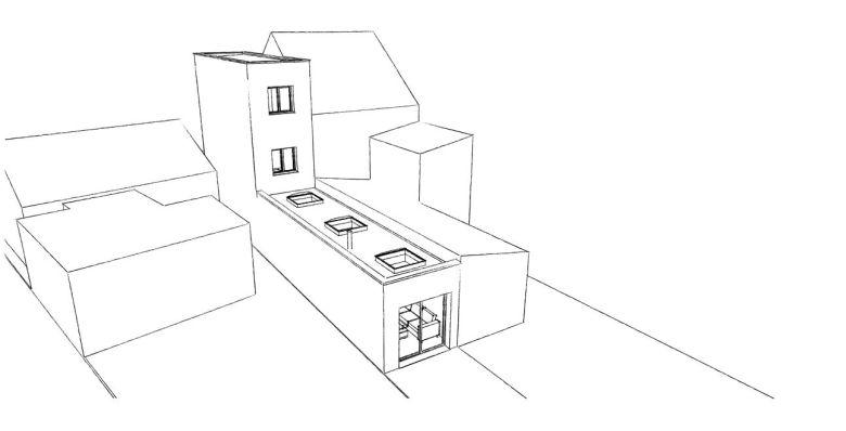 14.08 Extension maison étroite Dunkerque - Atelier permis de construire13.1
