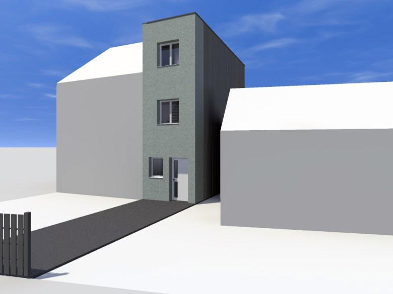 14.08 Extension maison étroite Dunkerque - Atelier permis de construire6