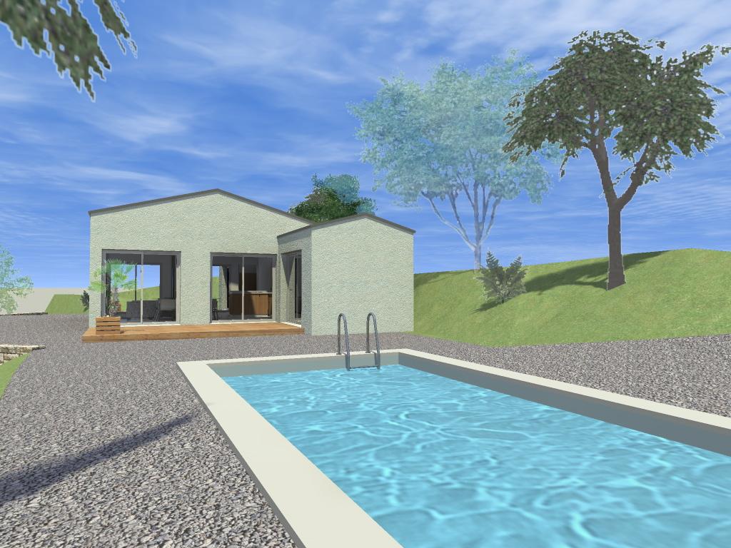 Construction d 39 une maison de vacances avec piscine saint for Permis construire piscine