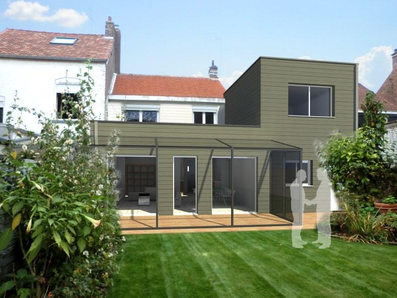 15.26 Extension maison permis de construire nord Valenciennes18