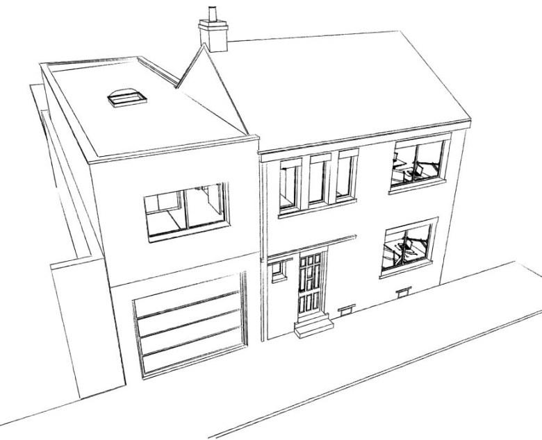 15.26 Extension maison permis de construire nord Valenciennes2