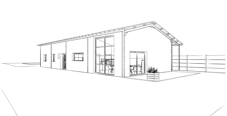 Transformation d 39 un hangar en habitation loft bois bernard for Fenetre hangar
