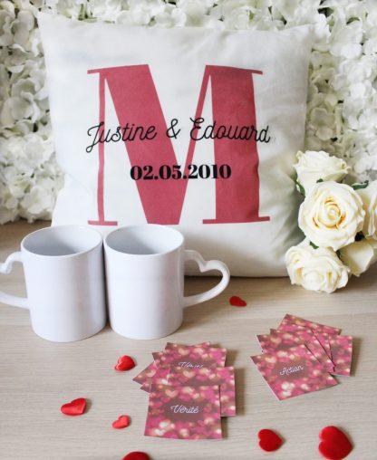Box cadeaux personnalisés saint valentin