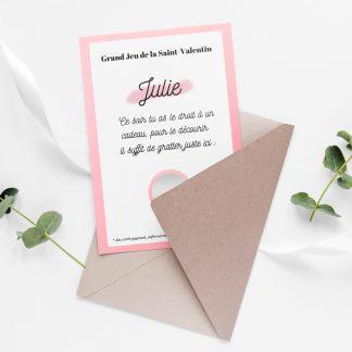 Carte à gratter personnalisée saint valentin