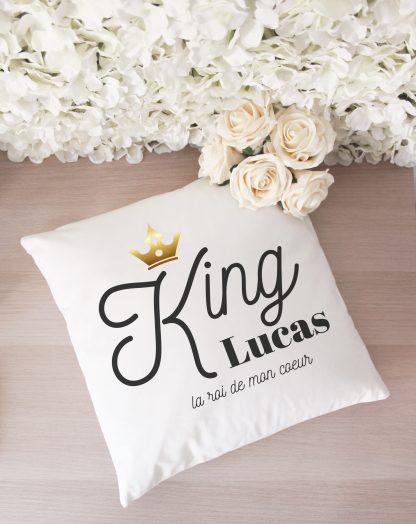 Coussin personnalisé King Queen Saint Valentin