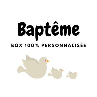Box papeterie personnalisée pour Baptême