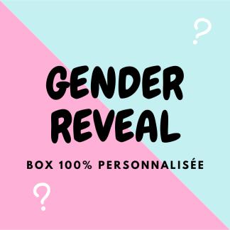 Box papeterie personnalisée Gender Reveal