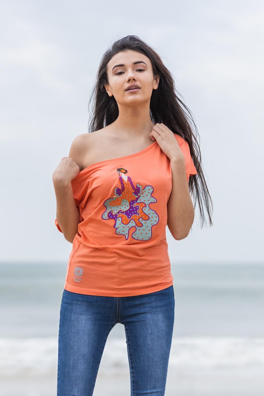 Camiseta Flamenca Coral