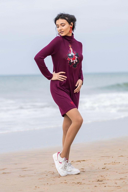 Vestido flamenca Atelier Rima Burdeos 2