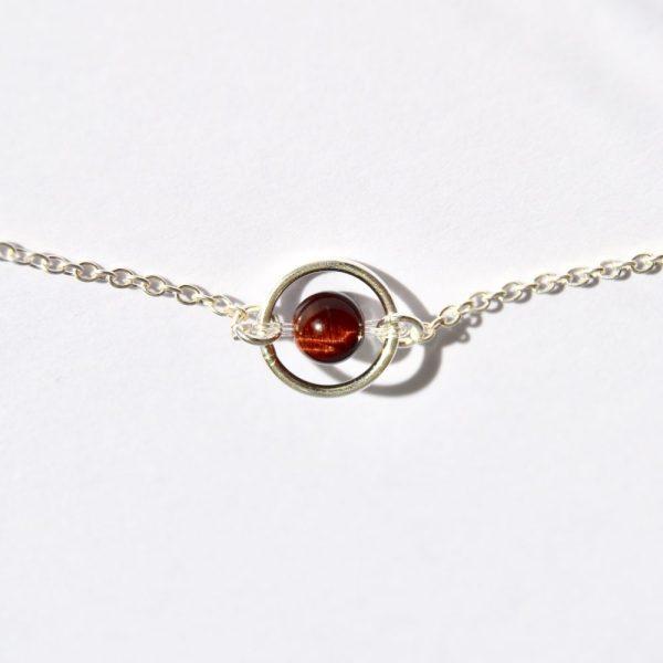 bijoux-pierre-argent-vrai-collier-funambule-lithotérapie-Oeil de taureau-3