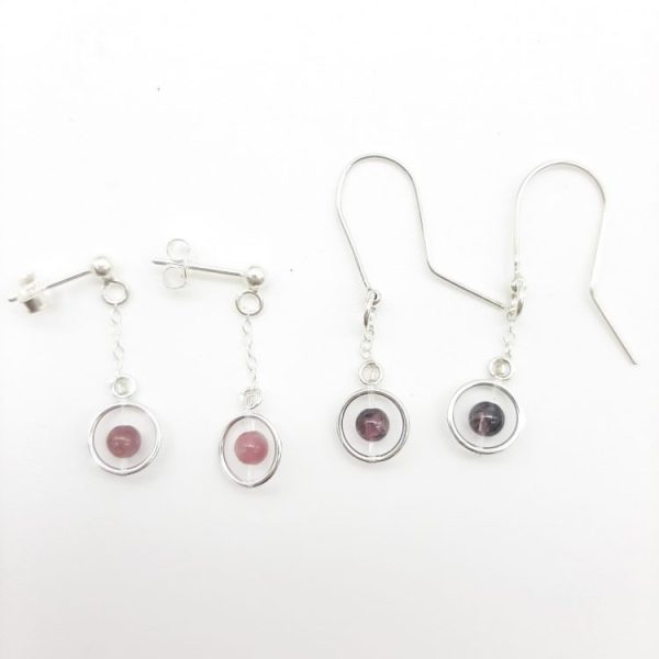 bloucle-orielle-pierres-bijoux-argent-cadeau-fete-mere-femme-funambule-tourmaline-rose-2
