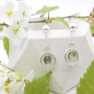 bloucle-orielle-pierres-bijoux-argent-cadeau-fete-mere-femme-funambule-tourmaline-verte-2