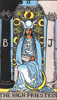 ウェイト版タロットカード女教皇
