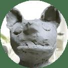 粘土で作った猫