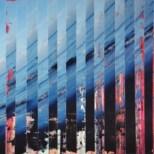 Welle, Bemalte Fotos [Ölfarbe] auf Papier, 36 x 13