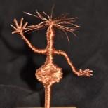 Ohne Titel, Kupferdraht um Draht, Höhe: 13 cm