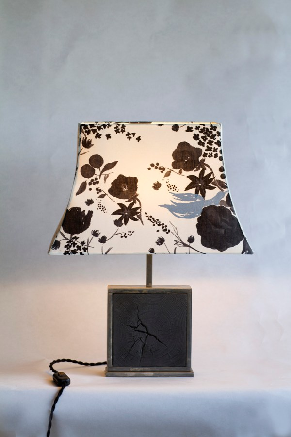 Lampe Hashira 柱 bruléeBeau Yin Yang