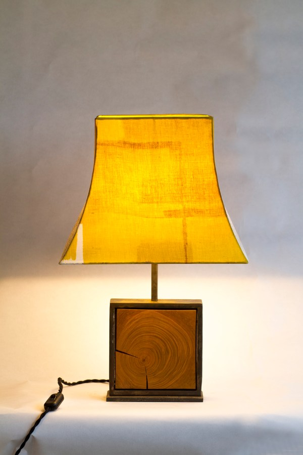 Lampe Hashira 柱 naturelFleurs sauvages