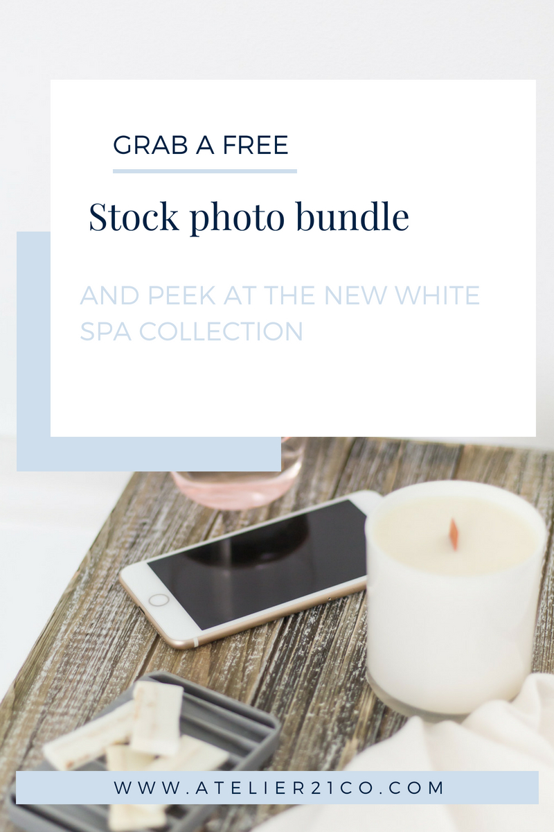 New stock photo collection with a white candle over a wooden plan on a white tub.