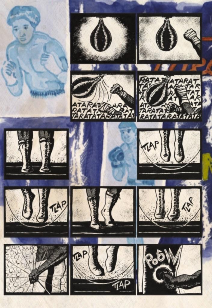 La planche 2 de la BD Jazz and Jabs par Dave Cart Hounist
