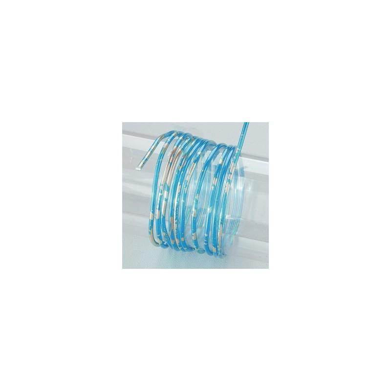 fil aluminium rond duo de couleur bleu argente o 2 mm pour bijoux et accessoires de bijoux fournitures 2 66 atelie