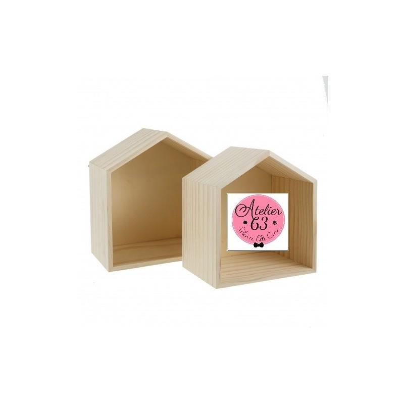 etageres en forme de maison en bois naturel lot de 2 supports a decorer de les supports 14 95 atelier63silenceellecree