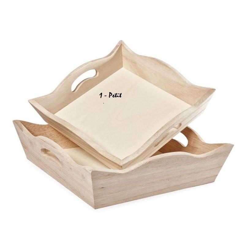 plateau carre support bois brut bords ondules a decorer n 1 petit format 18 cm de les supports 3 50 atelier63silencee
