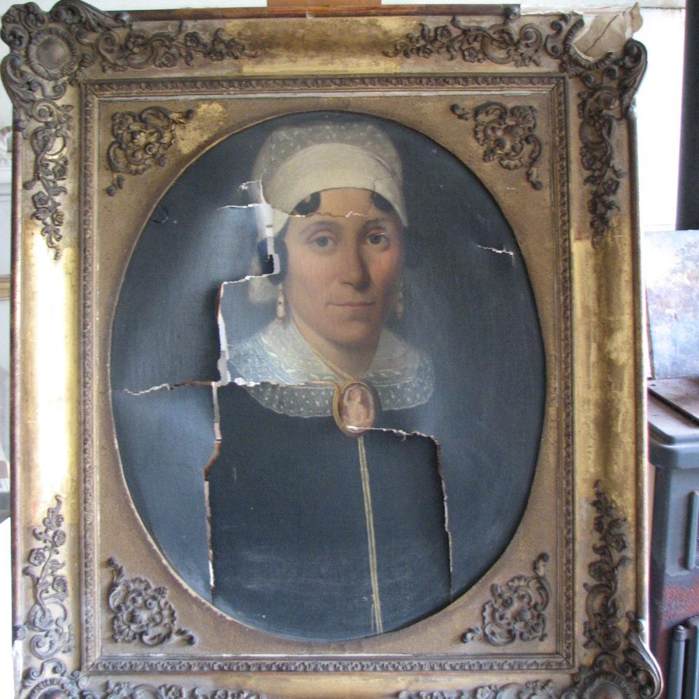Portrait de femme XIXème siècle