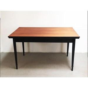 table-rallonge-contour-pied-noir