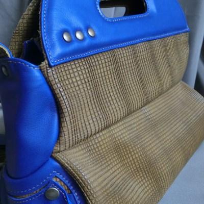 sac quille 2 cuir Atelier C vue 3/4
