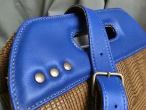 sac quille 2 cuir Atelier C détail poignée