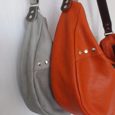 sac besace cuir Atelier C vue de détail