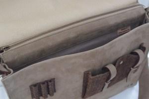 sacoche cartable Atelier C vue intérieur