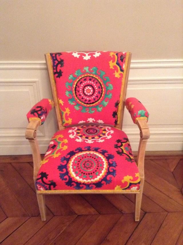 Commande restauration fauteuil.