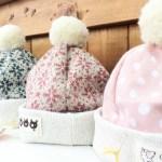 頭のボンボンが可愛い☆彡ベビー帽子(⋈◍>◡<◍)。✧♡