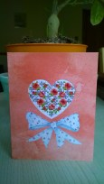 'Floral Heart' - a cover kit found in an old stash box