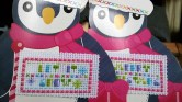 Close up of penguin Christmas cards