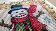 Finished Snowman Ornament Detail