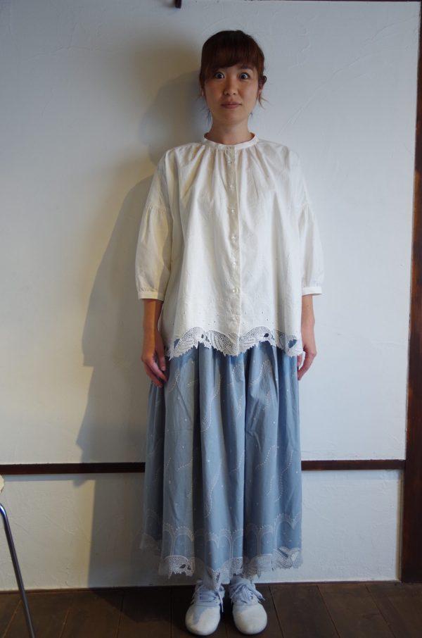 marbleSUD/ クジラレースバンドカラーシャツ 5