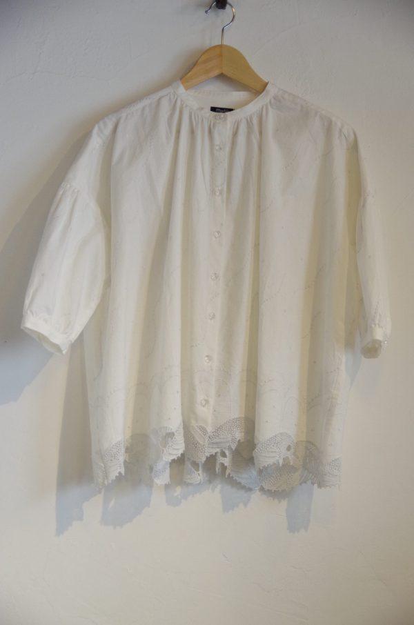 marble SUD(マーブルシュッド)/ クジラレースバンドカラーシャツ 2