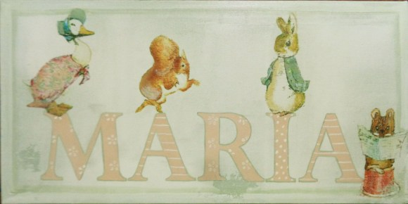 "Quadrinho Peter Rabbit ""nome"""