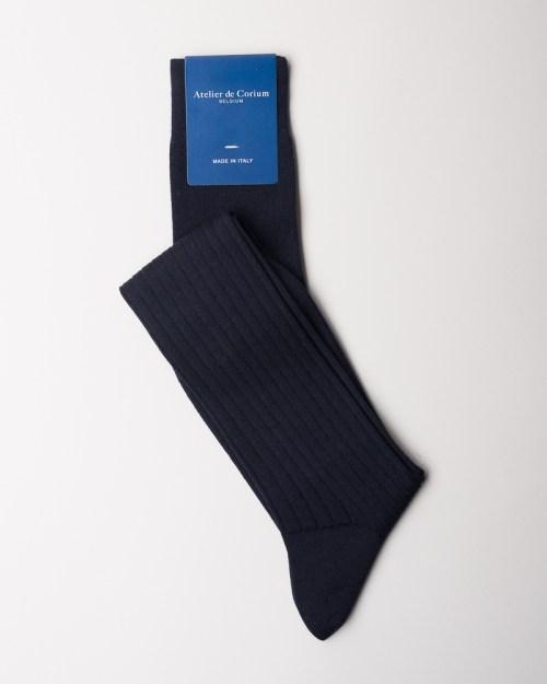 Navy Hand-linked 100% Merino Wool Socks