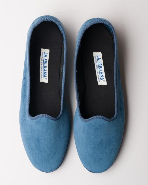 Atelier de Corium Carta da Zucchero velvet Friulane slippers top