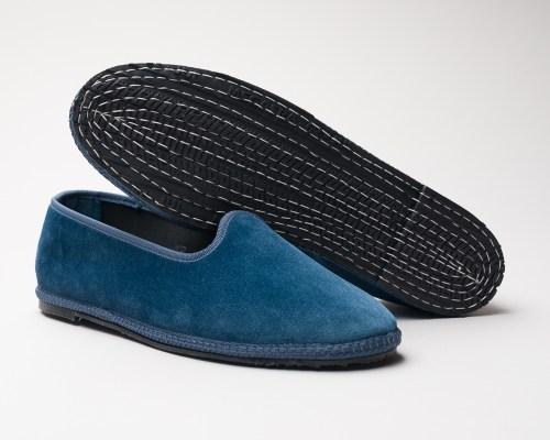 Atelier de Corium Carta da Zucchero velvet Friulane slippers sole