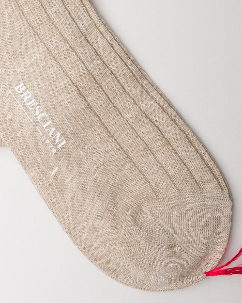 Bresciani Lino Linen Socks close-up